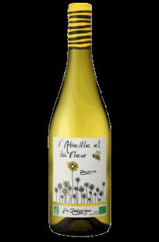 l'abeille et la fleur blanc