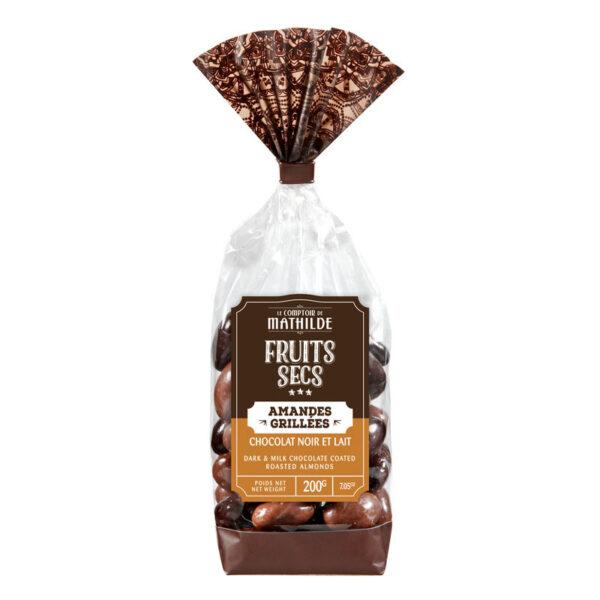 amandelen gegrild met chocolade