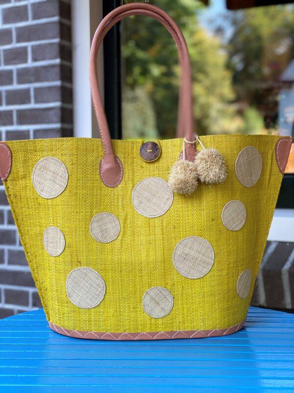 tas met stippen geel