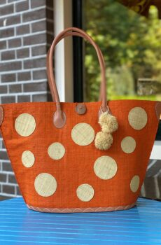 tas met stippen oranje