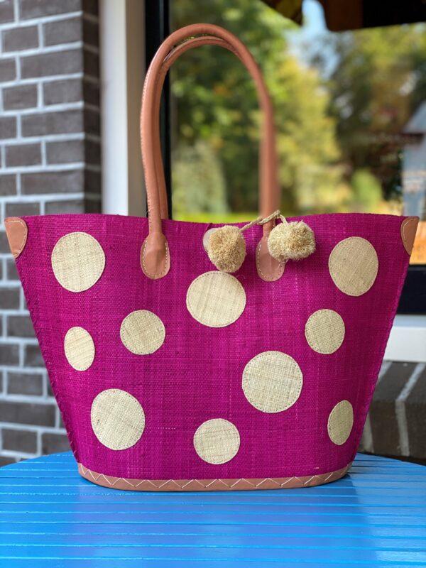 tas met stippen roze