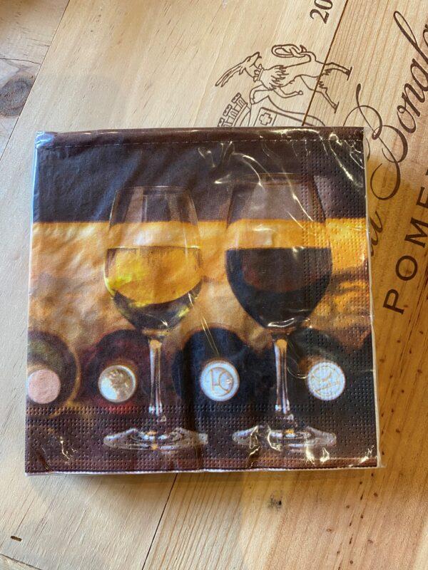 servetten wijnglazen